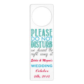 El casarse - no perturbe por favor colgante para puerta
