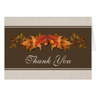 El casarse otoñal de las hojas le agradece tarjetas