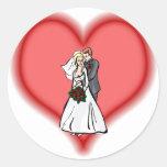 el casarse pegatina redonda