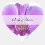 El casarse personalizado de los pegatinas del cora pegatina corazon personalizadas