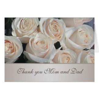 El casarse poner crema blanco de los rosas le tarjeta de felicitación