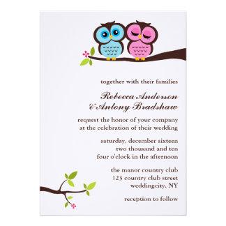 El casarse precioso de los búhos comunicado personal