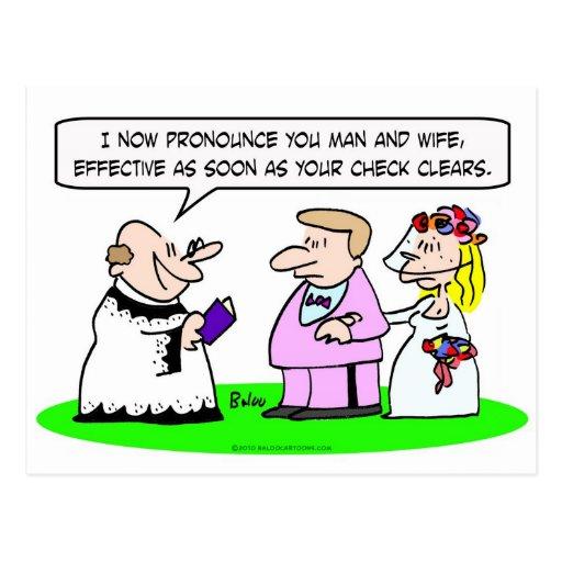 el casarse pronuncia claros del control de la espo tarjeta postal