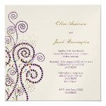 El casarse púrpura con clase elegante de los anuncios personalizados