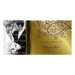el casarse púrpura de los espirales de Boho del fa Tarjeta Fotográfica Personalizada