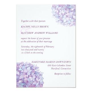 """El casarse púrpura de moda simple de los invitación 5"""" x 7"""""""