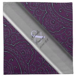 El casarse (púrpura) magnífico de las mandalas de servilletas de papel