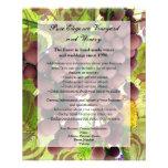 El casarse púrpura/verde del viñedo elegante de tarjetas publicitarias