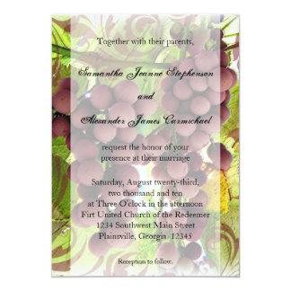 El casarse púrpura/verde del viñedo elegante de comunicados