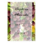 El casarse púrpura/verde del viñedo elegante de tarjetas de visita grandes
