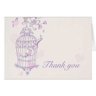 El casarse púrpura y rosado de los pájaros del amo tarjetas
