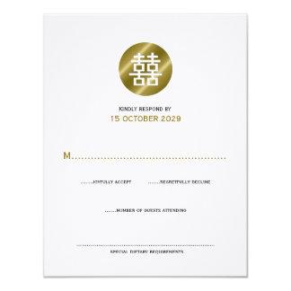 el casarse redondo de RSVP del logotipo de la Invitación
