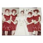 El casarse retro de los años 60 felicitación