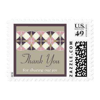 El casarse retro elegante del art déco del vintage timbre postal