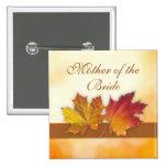 El casarse rojo de las hojas de otoño del oro pins