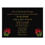 El casarse rojo de los tulipanes invitacion personal