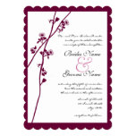El casarse romántico de las ramas del Wildflower Anuncio Personalizado