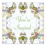 El casarse romántico de los pájaros y de las invitación 13,3 cm x 13,3cm
