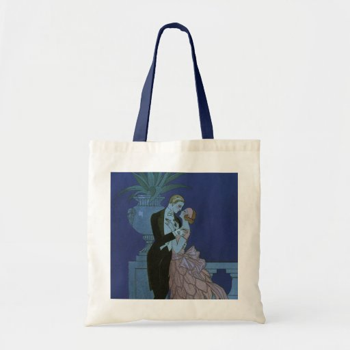 El casarse romántico de los recienes casados del a bolsa lienzo