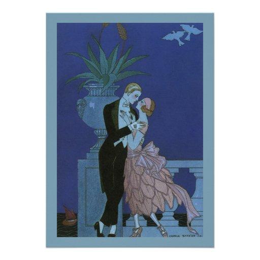 El casarse romántico de los recienes casados del a invitación personalizada