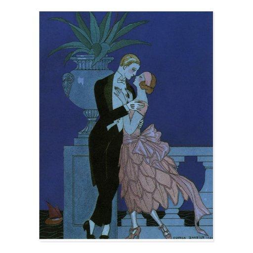 El casarse romántico de los recienes casados del a postales