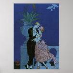 El casarse romántico de los recienes casados del póster