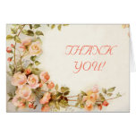 El casarse romántico de los rosas del vintage le a tarjeta