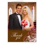 El casarse rosado elegante de los remolinos le agr felicitacion