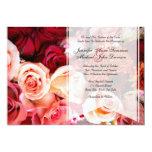 El casarse rosado romántico bonito de los rosas anuncios personalizados