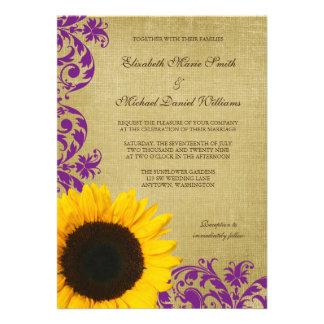 El casarse rústico de los remolinos de la púrpura