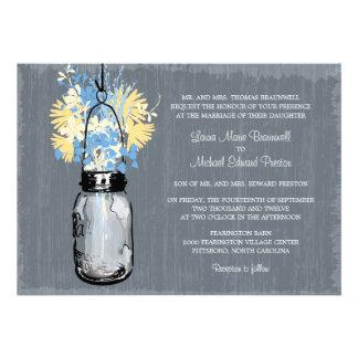 El casarse rústico del tarro y de los Wildflowers  Anuncios Personalizados
