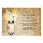 El casarse rústico del tarro y de los Wildflowers  Invitación