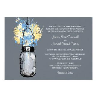 El casarse rústico del tarro y de los Wildflowers  Comunicado Personal