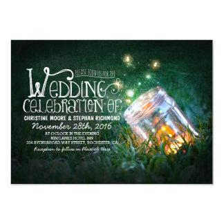El casarse rústico romántico del tarro y de las invitación 12,7 x 17,8 cm