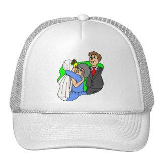 El casarse suministra 44 gorros bordados