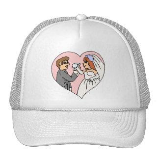 El casarse suministra 45 gorros bordados