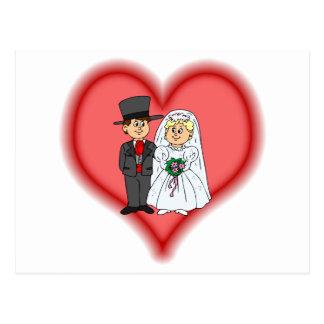 el casarse tarjeta postal