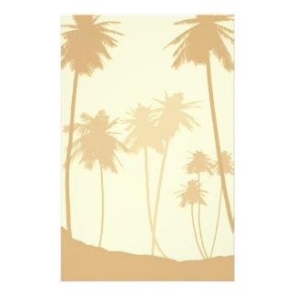 El casarse tropical de las palmeras papeleria personalizada