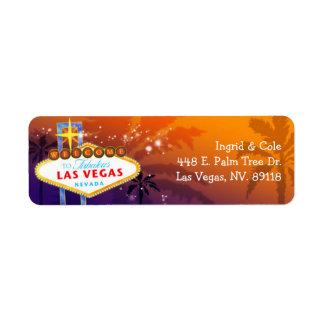 El casarse único de Las Vegas Etiquetas De Remite