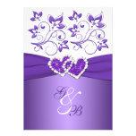 El casarse unido floral púrpura y blanco de los co