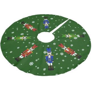 El cascanueces falda para arbol de navidad de poliéster