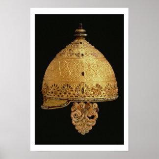 El casco céltico encontró en Agris, Charante, 4to  Impresiones