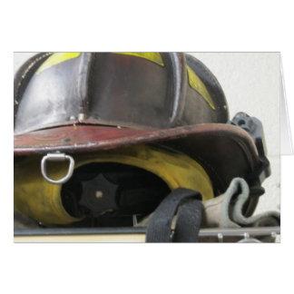 El casco del bombero tarjeta de felicitación