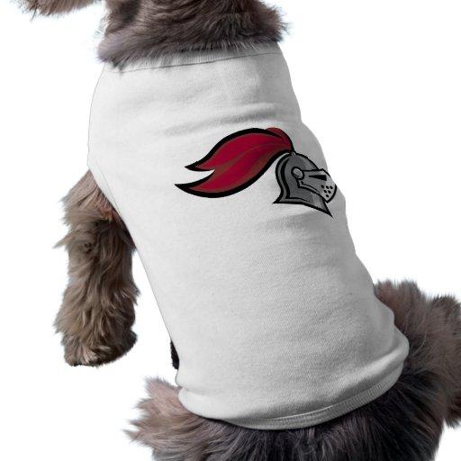 El casco del caballero camiseta de mascota