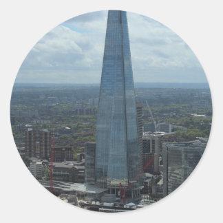 El casco, Londres Pegatina Redonda