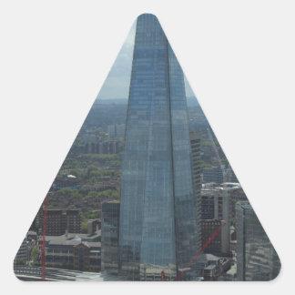 El casco, Londres Pegatina Triangular