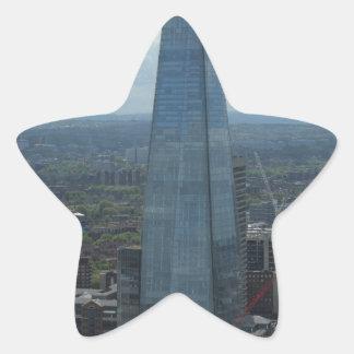 El casco, Londres Pegatina En Forma De Estrella