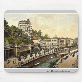 El casino, Carlsbad, Bohemia, Austro-Hungría rara Alfombrilla De Ratones