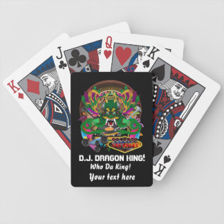 El casino D.J. Dragon rey ve por favor notas Baraja Cartas De Poker