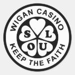 El casino de Wigan guarda la fe Etiquetas Redondas